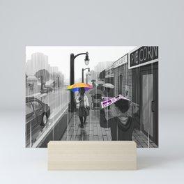 Passing in the Street Mini Art Print
