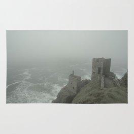 Botallack in the mist Rug