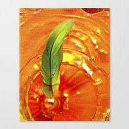 Portal of Creation (orange & green) Canvas Print