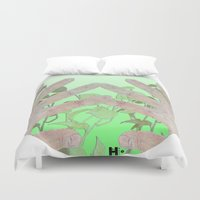 bag Duvet Covers featuring Bag by Art Barf