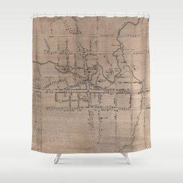 Vintage Map of Fayetteville North Carolina (1822) Shower Curtain