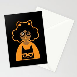 Girl 17 Halloween Kitty Cat Stationery Cards