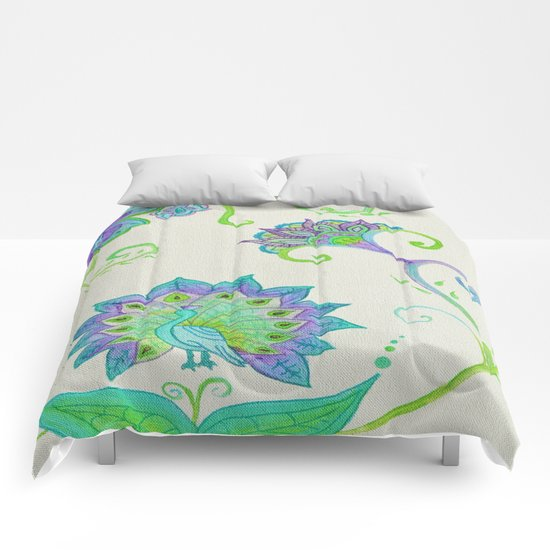 Peacocks & Paisley (1) Comforters