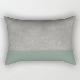 Concrete Colorblock Rectangular Pillow
