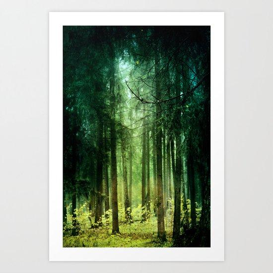 Enchanted light Art Print