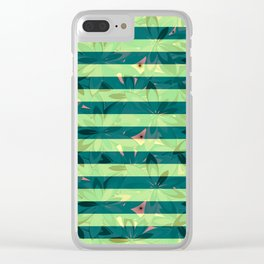Vegetation-stripes Clear iPhone Case