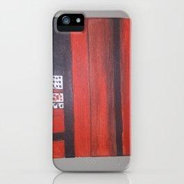 Red black iPhone Case