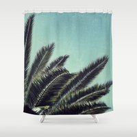 palms Shower Curtains featuring Palms by RichCaspian