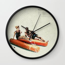 Summer in the City   Collage Wall Clock