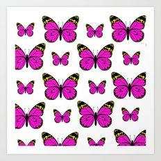 More Butterflys Art Print