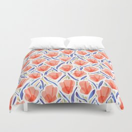Sanguine Sway Persimmon Duvet Cover