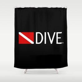 Diving: Diving Flag & Dive. Shower Curtain