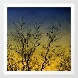 Silhouette Bird Art Art Print