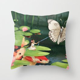 Thumbelina Throw Pillow