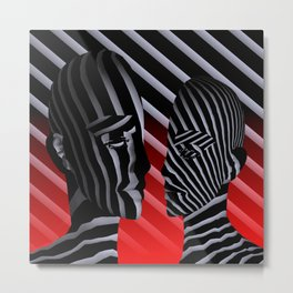 parted faces Metal Print