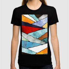 Angles of Textured Colors T-shirt