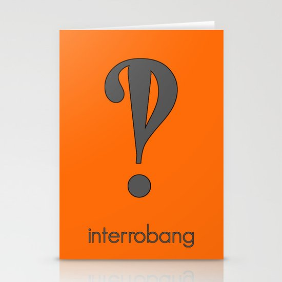 Interrobang, Serif Stationery Cards