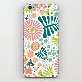 Whimsical flowers iPhone Skin