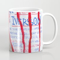 nba Mugs featuring NBA PLAYERS - Allen Iverson by Ibbanez