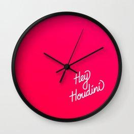 Hey Houdini   [gradient] Wall Clock