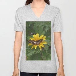 Mexican Sunflower - Tithonia diversifolia Unisex V-Neck