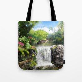 Hawaiian  Garden Tote Bag