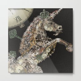 unicorn - licorne - unicorno - 獨角獸 - Einhorn - magique - magic - tayatamelie am-steampunk Metal Print
