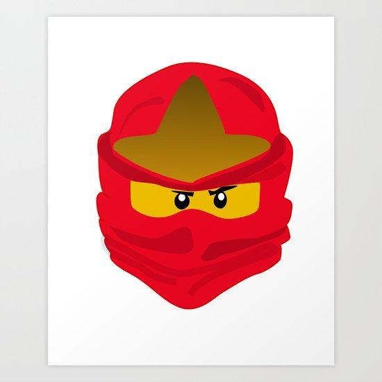 Ninja Face Kai Art Print