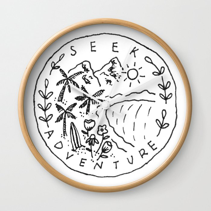 Seek Adventure Wall Clock