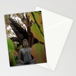 Buddha Statue at Abhayagiri Stupa Stationery Cards