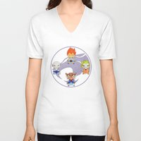thundercats V-neck T-shirts featuring A Boy - A Girl - Thundercats by Christophe Chiozzi