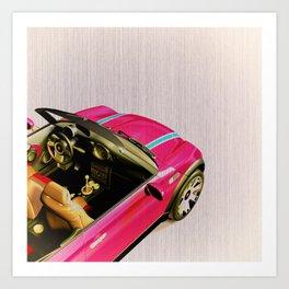 Pink Playmobil Art Print