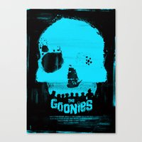 goonies Canvas Prints featuring The Goonies by Dan K Norris