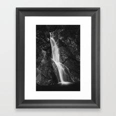 Waterfall in Hell Gorge, Slovenia Framed Art Print