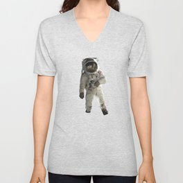 Astronaut Low Poly Unisex V-Neck