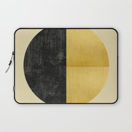 Black and Gold Circle 03 Laptop Sleeve