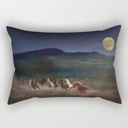 Moonlight Run Rectangular Pillow