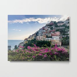 Positano cityscape, Italy Metal Print