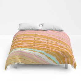 Marble Pink + Gold Comforters