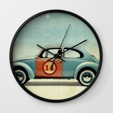 number 11 Bug Wall Clock