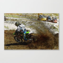 Round the Bend - Dirt-Bike Racing Canvas Print