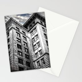Boston [Sky cut 413] Massachussets, Usa Stationery Cards