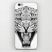 leopard iPhone & iPod Skins featuring Leopard by Libby Watkins Illustration