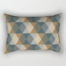 Caffeination Geometric Hexagonal Repeat Pattern Rectangular Pillow