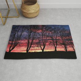 A Winter New England Sunset Rug