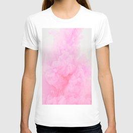 Pink Neon Smoke Clouds T-shirt