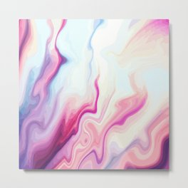 Liquid Marbed Rose Agate Metal Print