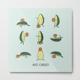 Avo-cardio Metal Print