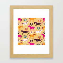 Lucky Horses Framed Art Print