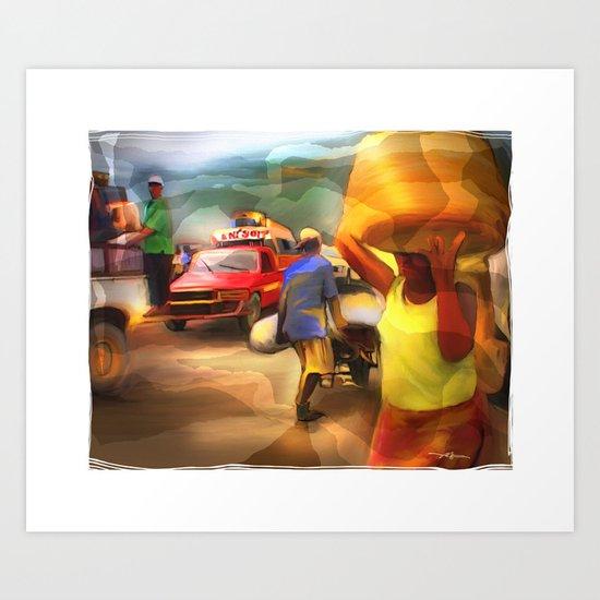 A Days Work Art Print